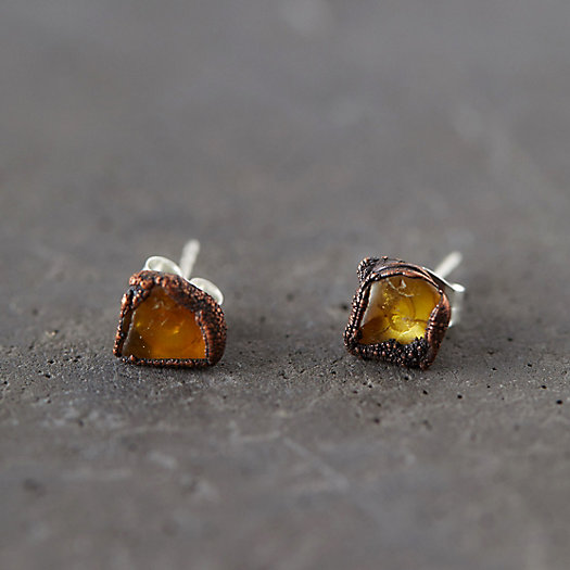 View larger image of Raw Amber Studs