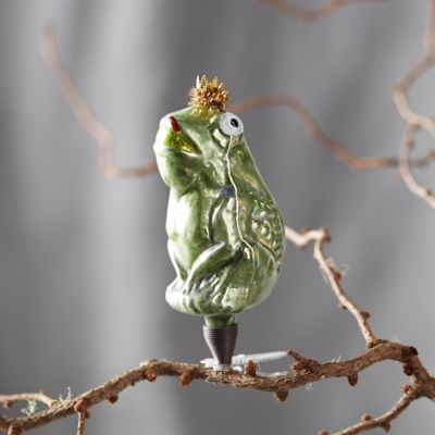 Frog Prince Glass Ornament