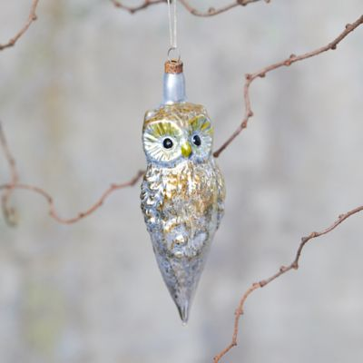 Wise Owl Glass Ornament