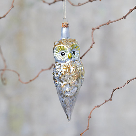 View larger image of Wise Owl Glass Ornament