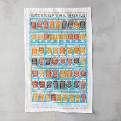 Beers of the World Tea Towel