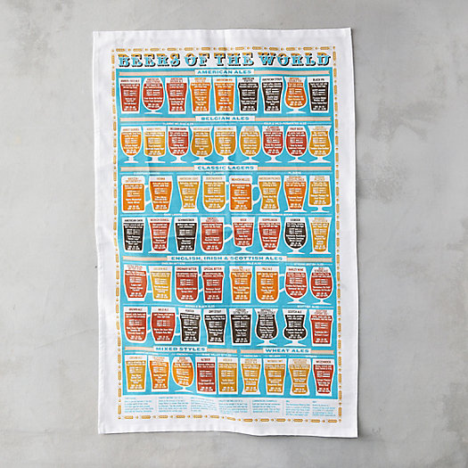 View larger image of Beers of the World Tea Towel