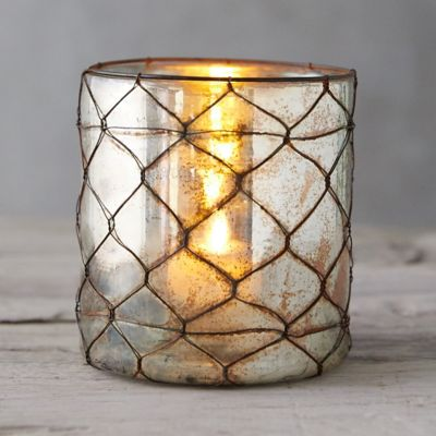 Wire Wrapped Copper Votive Holder