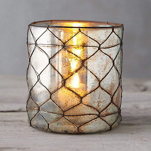 View larger image of Wire Wrapped Copper Votive Holder