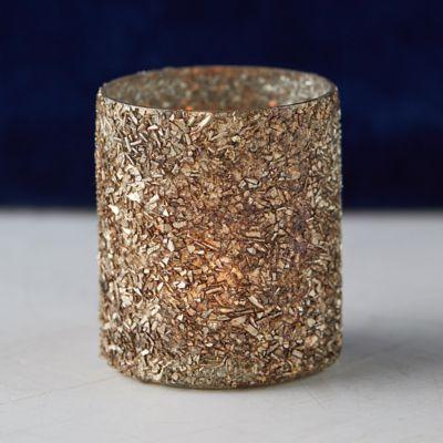 Textured Metallic Votive Holder
