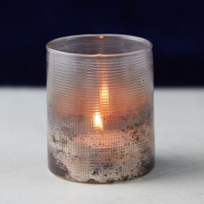 Cross Etched Votive Holder
