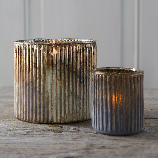 View larger image of Ridged Copper Votive Holder