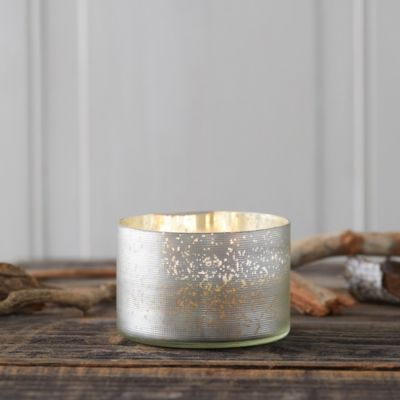 Mercury Glass Candle, Balsam + Cedar