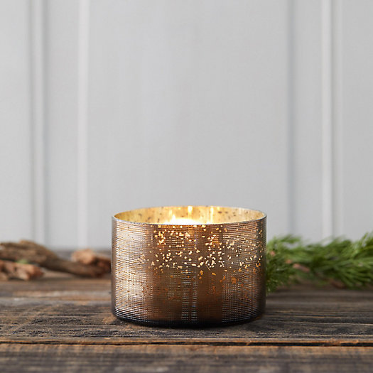 View larger image of Mercury Glass Candle, Woodfire