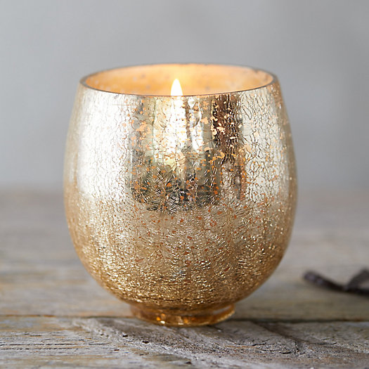 View larger image of Crackle Glass Candle, Twilight Vanilla