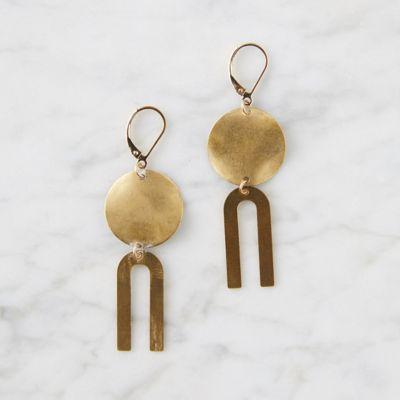 Brass Mobile Earrings