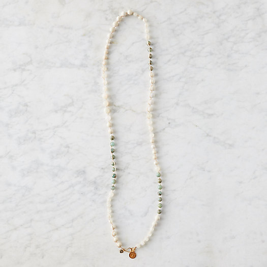 View larger image of Hand Braided Moonstone + Jasper Strand Necklace