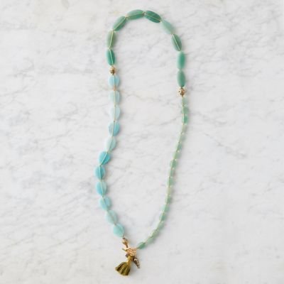 Beaded Aventurine & Amazonite Necklace