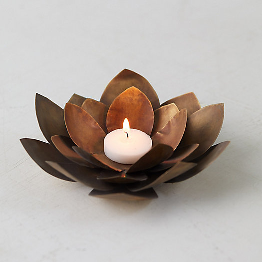 View larger image of Brass Floral Votive Holder