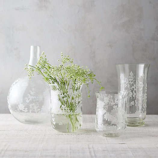 View larger image of Trailing Floral Glass Vase