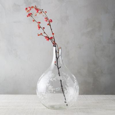 Trailing Floral Glass Demijohn