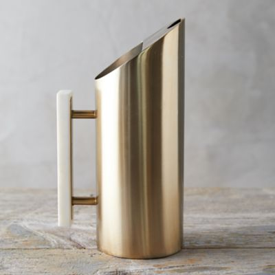 Brass + Marble Pitcher