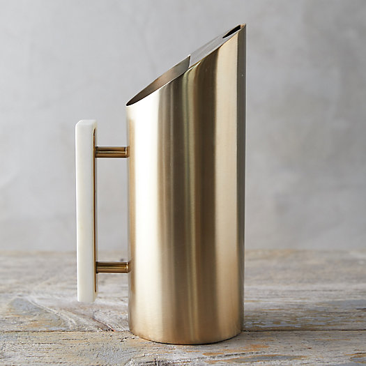 View larger image of Brass + Marble Pitcher