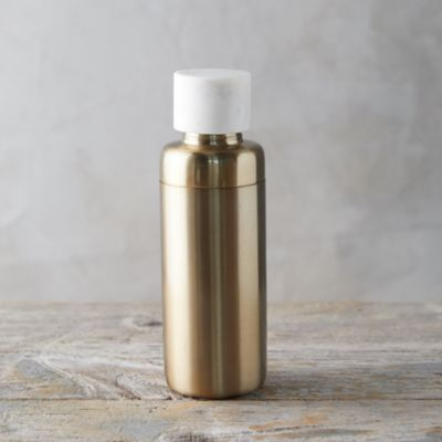 Brass + Marble Cocktail Shaker