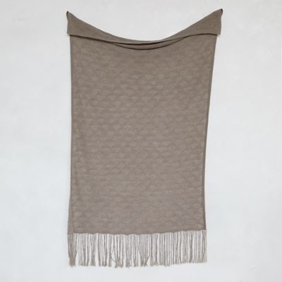 Lightweight Scalloped Fringe Throw