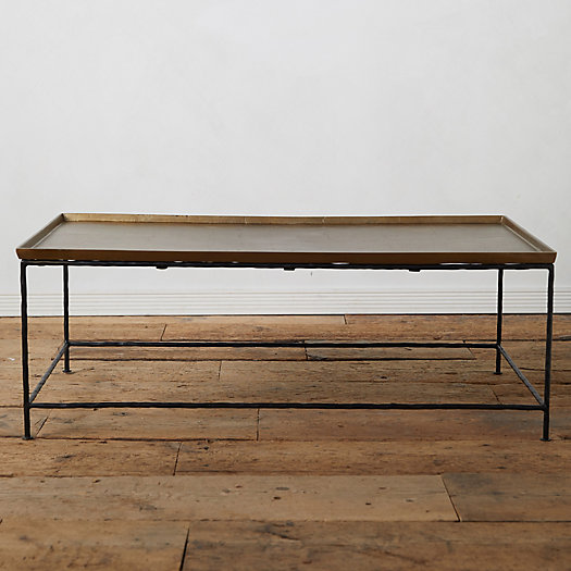 View larger image of Antiqued Brass Coffee Table