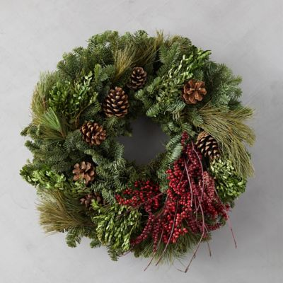 Fresh Mixed Greens Wreath