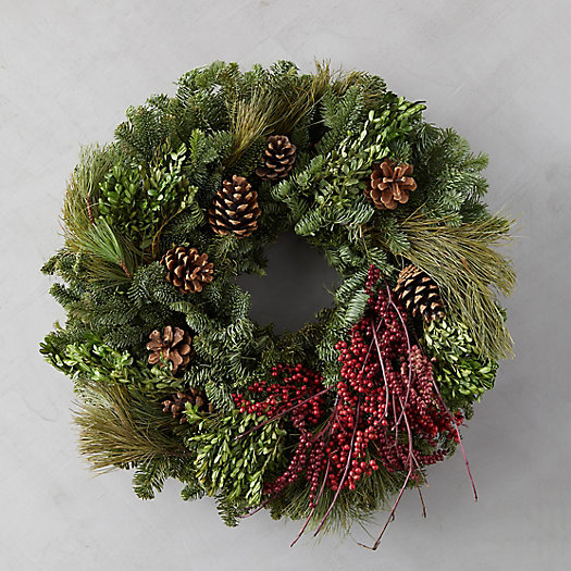 View larger image of Fresh Mixed Greens Wreath
