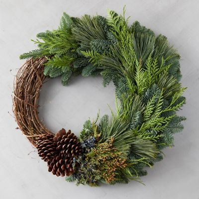 Fresh Greens + Vine Wreath