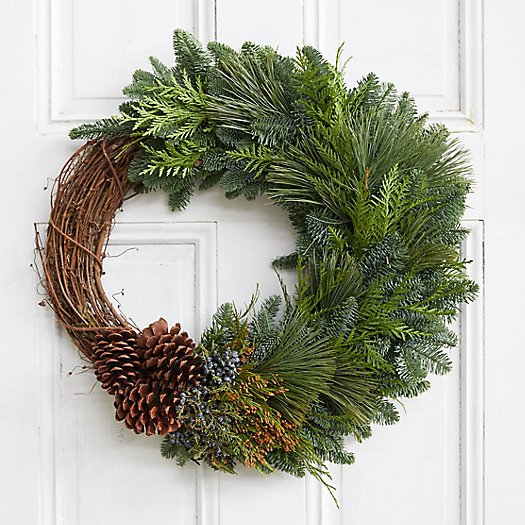 View larger image of Fresh Greens + Vine Wreath