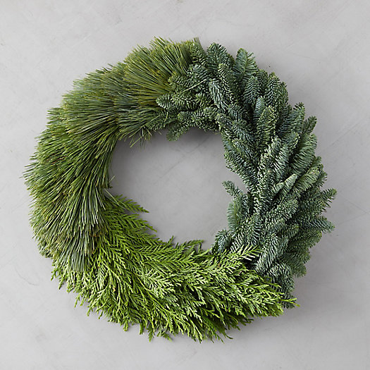 View larger image of Fresh Colorblocked Greens Wreath