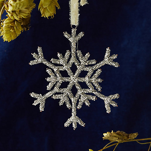 View larger image of Beaded Snowflake Ornament, Large
