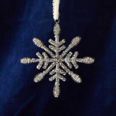 Beaded Snowflake Ornament, Small
