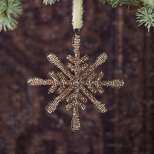 View larger image of Beaded Snowflake Ornament, Small