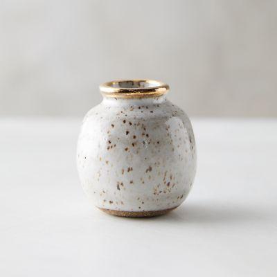 Speckled Stoneware Bud Vase