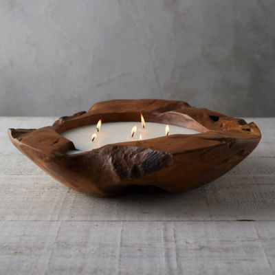 Teak Bowl Citronella Candle