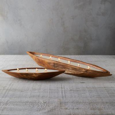 Teak Boat Citronella Candle