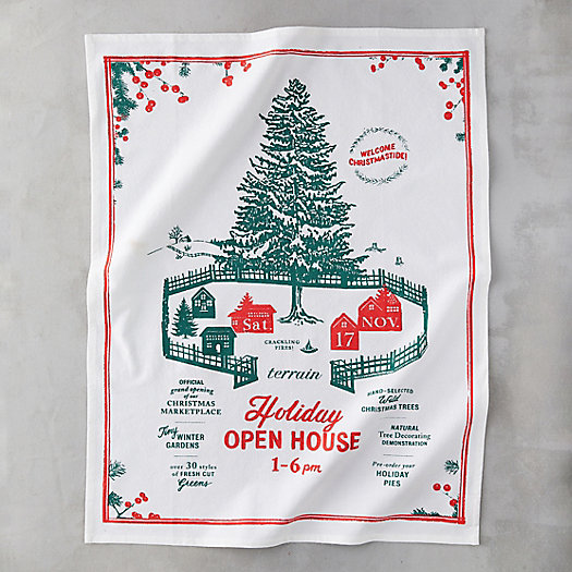View larger image of Holiday Open House Tea Towel