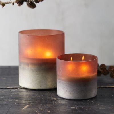 Linnea's Lights Ombre Hurricane Candle, Pumpkin