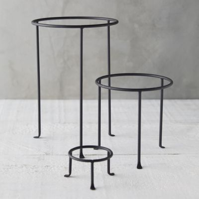 Matte Black Plant Stand, Tall