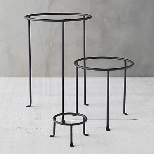 View larger image of Matte Black Plant Stand, Tall
