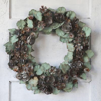 Verdigris Blooms Wreath