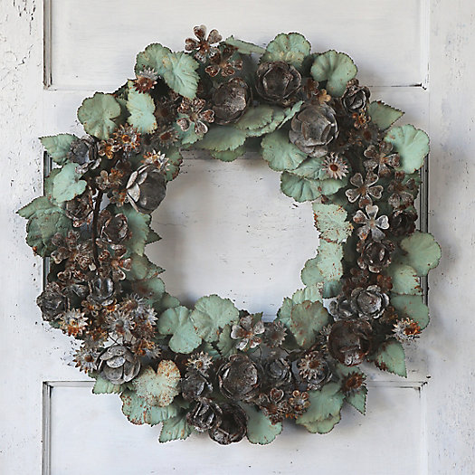 View larger image of Verdigris Blooms Wreath