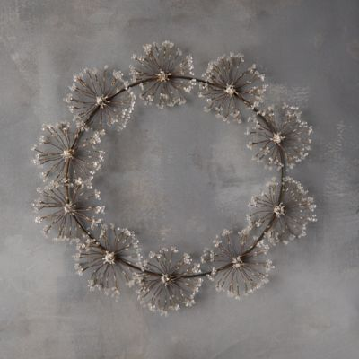 Beaded Iron Angelica Wreath