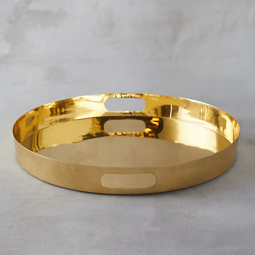 View larger image of Brass Round Serving Tray