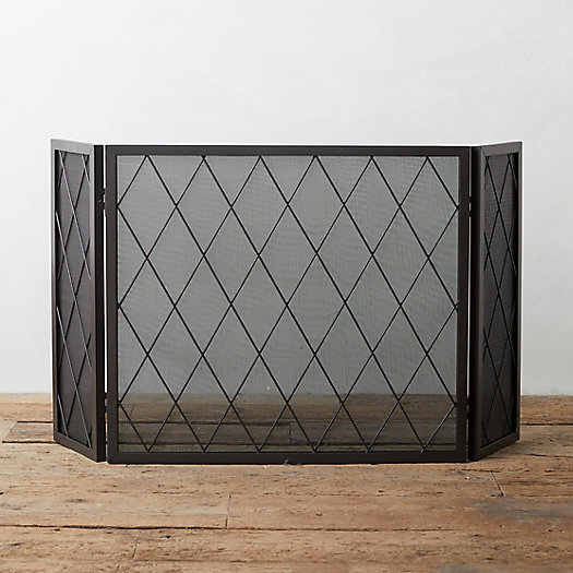 View larger image of Iron Lattice Fireplace Screen