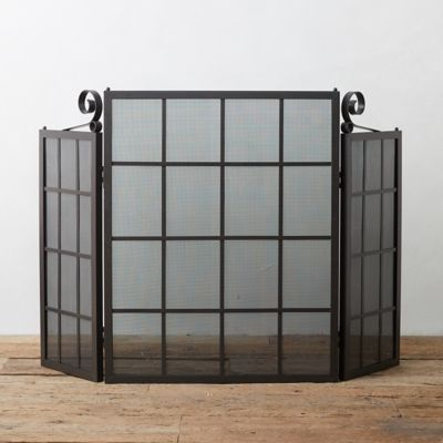 Windowpane Fireplace Screen