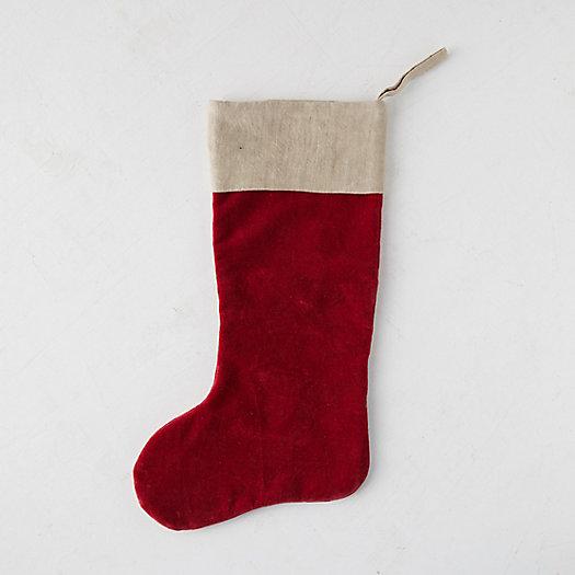View larger image of Velvet + Linen Stocking