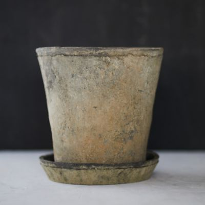 Earth Fired Clay Herb Pot + Saucer