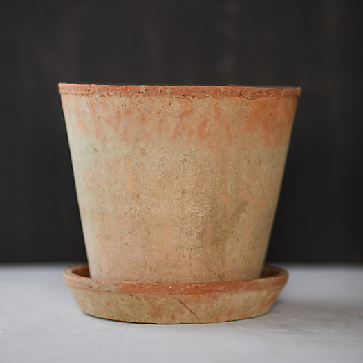 View larger image of Earth Fired Clay Herb Pot + Saucer