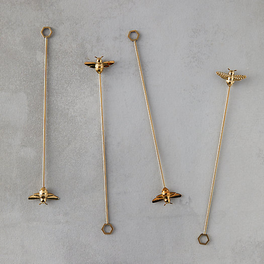 View larger image of Bee Cocktail Stirrers
